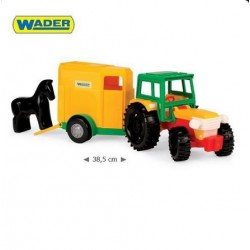 Zabawka traktor z przyczepą /Wader/