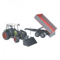 Zabawka traktor Claas Nectis 267F +ładowacz+przycz