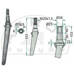 Ząb brony aktywnej RH-2