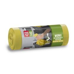 Worki na odpady 120l. żółte (10szt)