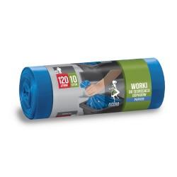 Worki na odpady 120l. niebieskie (10szt)