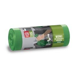 Worki na odpady 120l. zielone (10szt)