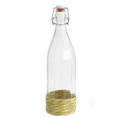 Butelka 1l. w oplocie z hermetycznym zamknięciem
