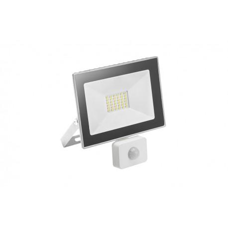 Naświetlacz LED 20W biała zimna z cz.ruchu GTV