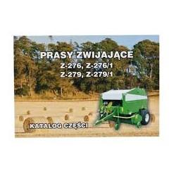Katalog prasa zwijająca Z-276 Z-276/1 Z-279 Z-279/