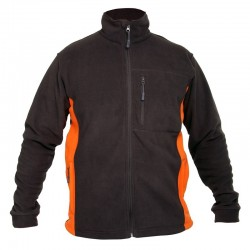Bluza polar męska czarno-pomarańczowa 3XL Lahti
