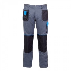 Spodnie robocze szaro-niebieskie S Lahti