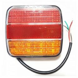 Lampa tylna zespolona LED 12/24V 105*95 pom-czerw