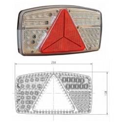 Lampa tylna zespolona LEDx53 z trójkątem pr.