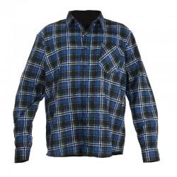 Koszula flanelowa w kratę niebieska 2XL Lahti