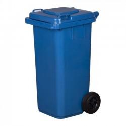 Pojemnik plastikowy na śmieci 120l. niebieski