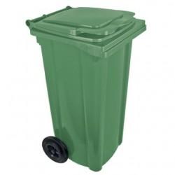 Pojemnik plastikowy na śmieci 120l. zielony