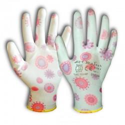 Rękawice ochronne ogrodowe powlekane rozmiar S