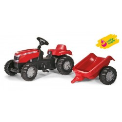 Zabawka traktor na padała Massey Fergusson+przycze