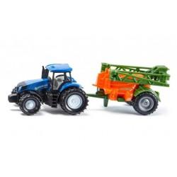 Zabawka traktor New Holland z opryskiwaczem /Siku/