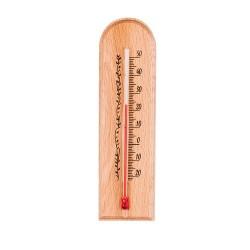 Termometr pokojowy drewniany 40/150mm. buk