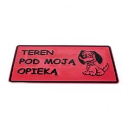 """Tablica """"UWAGA PIES"""" duża"""