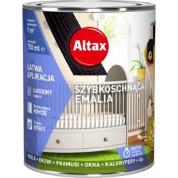 Emalia szybkoschnąca biała pół mat 0,75l. Altax