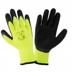Rękawice ocieplone żółte rozmiar 10 Lahti