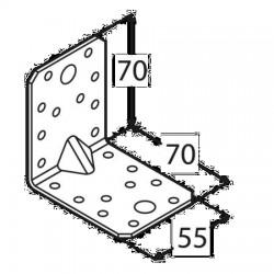 Kątownik budowlany 70*70*55 z przetłoczeniem KPL4