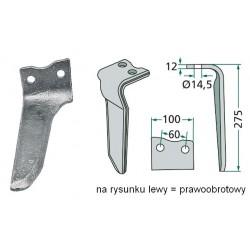 Ząb brony aktywnej RH-67-R Howard pr.=lewoobrotowy