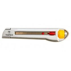 Nóż z ostrzem łamanym 18mm. metalowy korpus Topex