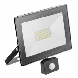 Naświetlacz LED 50W biała zimna z cz.ruchu GTV