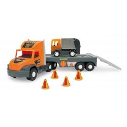 Zabawka Super Tech Truck laweta ze śmieciar. Wader