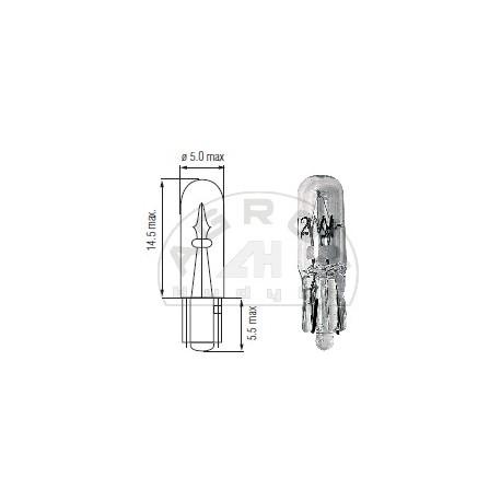 Żarówka 24V 2W TO5 całoszklana