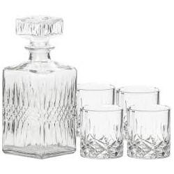 Karafka + 4 szklanki do Whisky XXXX