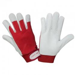 Rękawice warsztatowe z koziej skóry czerw 10 Lahti