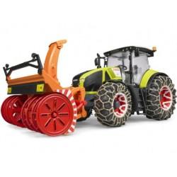 Zabawka traktor Claas Axion 950 z odśnieżarką