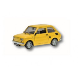 Zabawka Fiat 126P żółty /PRL/
