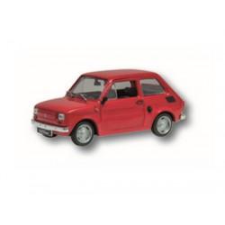 Zabawka Fiat 126P czerwony /PRL/