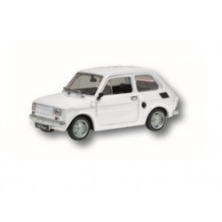 Zabawka Fiat 126P biały /PRL/