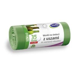 Worki na odpady 35l. z uszami zielone (20szt)