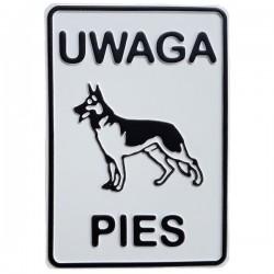 "Tablica ""UWAGA PIES"" mała"