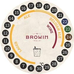 Termometr ciekłokrystaliczny do fermentacji