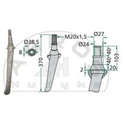 Ząb brony aktywnej RH-2-A z kropelką
