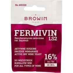 Drożdże winiarski suszone Fermicru LS2 7g.