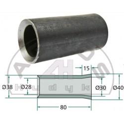 Tulejka zęba L-80mm. fi-40mm. 28/30mm.