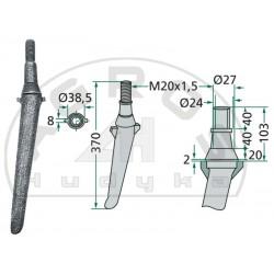 Ząb brony aktywnej RH-2-A bez kropelki