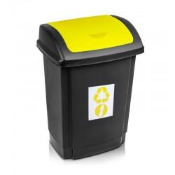 Kosz do segregacji śmieci 15l. żółty