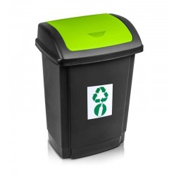Kosz do segregacji śmieci 15l. zielony