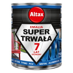 Emalia Super Trwała 250ml. biała matowa Altax