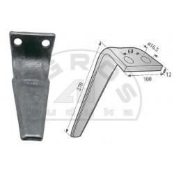 Ząb brony aktywnej RH-69 Vector 2500 FN lw/pr