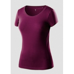 Koszulka t-shirt damska S bordowa NEO