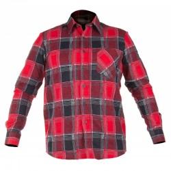 Koszula flanelowa w kratę czerwona S Lahti