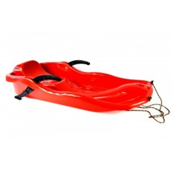 Sanki plastikowe z hamulcem race czerwone