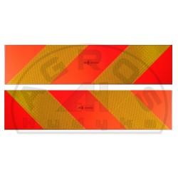 Tablica wyróżniająca 130x545mm. skośna 2szt lw/pr